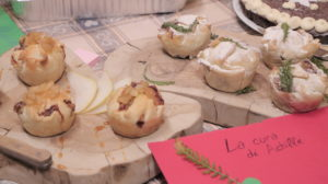 """most delicious plate - 2nd place (shares 2nd place most beautiful plate): """"La Cura di Achille"""" - savoury pies with cheese, pears and grappa"""
