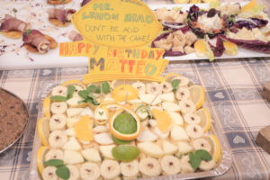 """most delicious plate - 3rd place: """"Mr Lemon Head"""" - a fruity dessert with orange and lime juice, fresh mint and robiola cheese."""